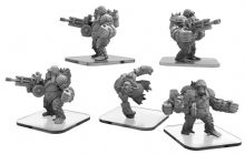 Ape Gunners & Ape Infiltrator  Monsterpocalypse Empire of the Apes Units (metal)